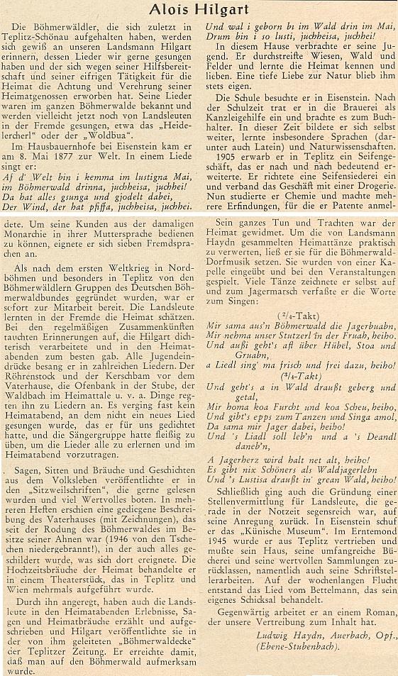 Jiný Haydnův článek s nářečními ukázkami z Hilgartova díla