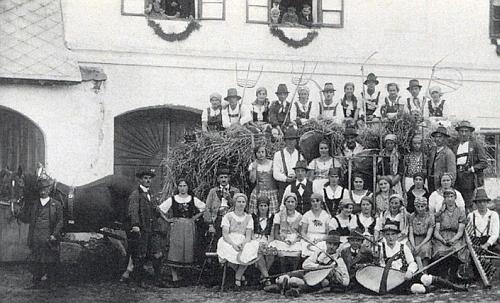 Pravětínské dožínky v roce 1934
