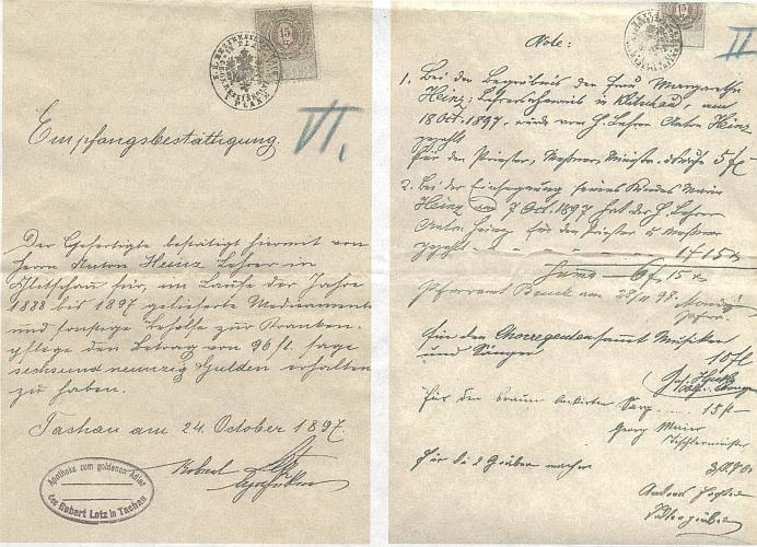 Doklady k textu o její prababičce