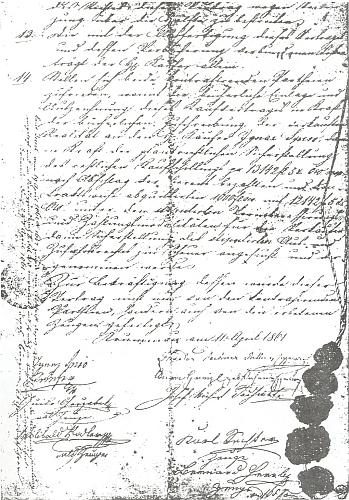 Kupní smlouva z 11. dubna roku 1861, kterou Ignaz Spiro získal krumlovskou papírnu