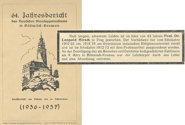 Parte s obálkou výroční zprávy, kde se objevilo