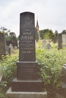 Hrob manželčin na českokrumlovském židovském hřbitově