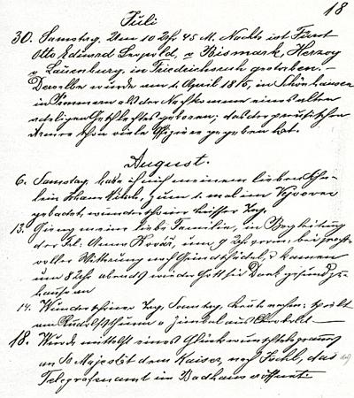 Originál citované strany z jeho deníku