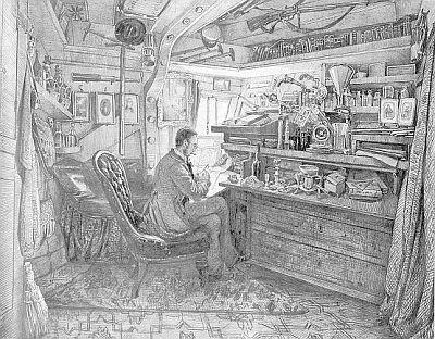 Na palubě lodi Novara (1857)