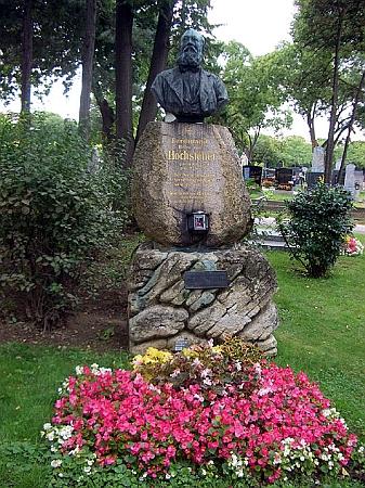 Jeho náhrobek na vídeňském ústředním hřbitově, skupina 14 A, č. 41