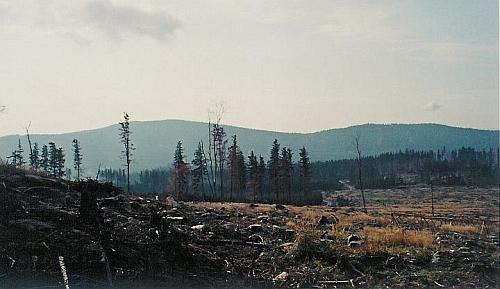 """Špičák, jeden z """"hodňovských jezdců"""" zmiňovaných v jeho textu, od Lysé na snímku z října 2008"""