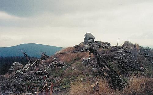 Špičák a Knížecí Stolec na snímku z října 2008