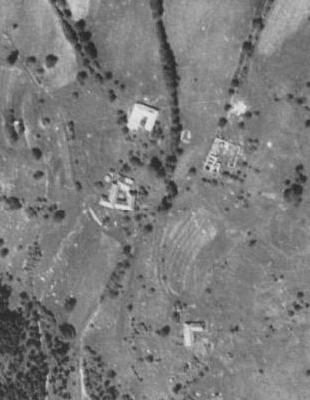 Valdov na leteckých snímcích z let 1952 a 2011