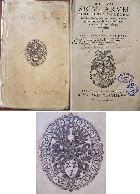 Kniha o Sicílii, která byla součástí jeho soukromé knihovny a později klášterní knihovny zlatokorunské, se v průběhu staletí zatoulala právě tam,  dnes je v knihovně v sicilském městě Milazzo blízko Messiny