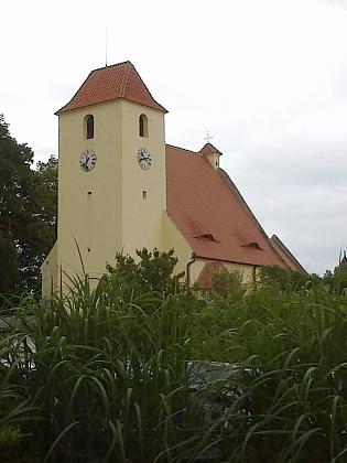 Žumberský kostel na snímku z roku 2013