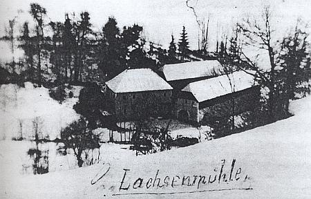"""Tak řečený """"Lososí mlýn"""" stával blízko někdejšího Horního Ureše"""