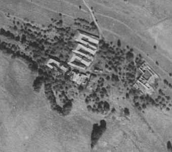 Horní Ureš na leteckých snímcích z let 1952 a 2008