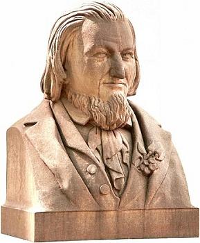Bysta básníkova od Fritze Neubera (1837-1889) z roku 1871