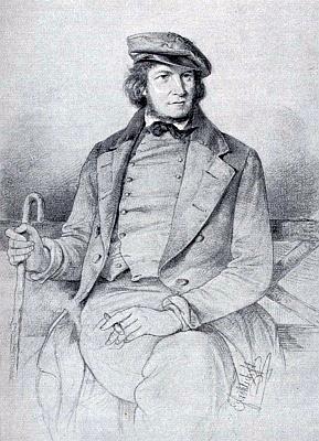 Na kresbě Ernsta Fröhlicha (1810-1882) z roku 1849