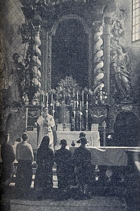 Mše kdysi v malonstkém kostele