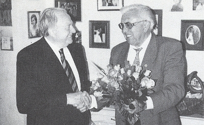 K osmdesátinám mu gratuloval Alfred Pöschko (vpravo)