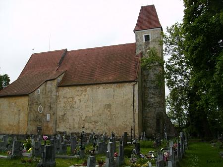 Kostel sv. Bartoloměje v Malontech v roce 2013 (viz i Wilhelm Richter a Johann Evangelist Mikolasch)