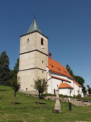 Kostel sv. Markéty a fara v Horní Plané