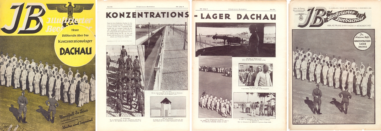 """Už v roce 1936 se nacistický tisk reportáží z koncentračního tábora Dachau bezostyšně přihlásil ke Goebbelsově myšlence """"Vernichtung durch Arbeit"""", tj. """"ničení prací"""" - třeba ovšem dodat, že v roce 1940 tu bylo instalováno navíc ikrematorium a dva roky nato plynová komora"""
