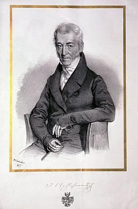 Jeho praděd Isaak Löw Hofmann (1759-1849), jehož podobenka je doprovozena i autogramem a šlechtickým erbem