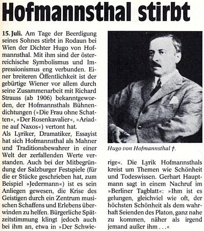 """Gerhard Hauptmann napsal v nekrologu pro deník Berliner Tagblatt: """"Jemu se podařilo, nezáleží na tom, jak často, přiblížit se nejvyšší kráse, tomu Platónovu opravdového bytí tak, jako nikomu jinému kromě něho"""""""