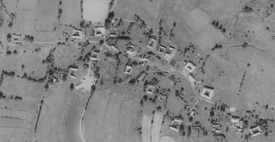 Rodné Radčice na leteckých snímcích z let 1952 a 2008