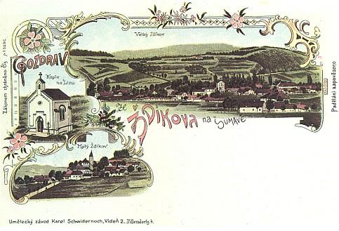 """Blízká kaple, zvaná rovněž """"na Lizu"""", bývala kdysi i na českých pohlednicích, tištěných ovšem ve Vídni"""