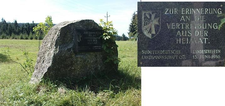 Památník zemského setkání Sudetoněmeckého krajanského sdružení v Schöneben ke 40. výročí odsunu