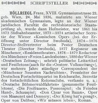 O něm v německo-rakouském slovníku umělců a spisovatelů