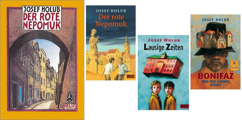 Obálky německých vydání jeho dětských knih, vesměs odměněných významnými literárními cenami (nakladatelství Beltz & Gelberg)