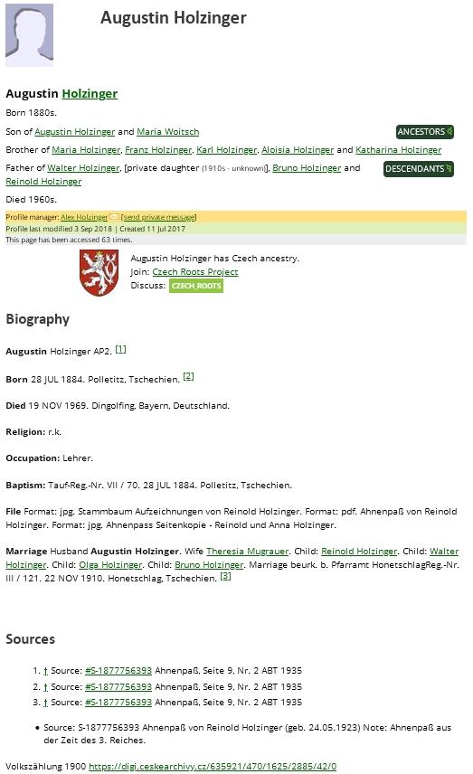 """Jeho """"rozrod"""" na genealogickém webu WikiTree"""
