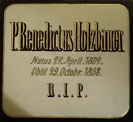Náhrobní deska uložená v hřbitovní kapli sv. Anny
