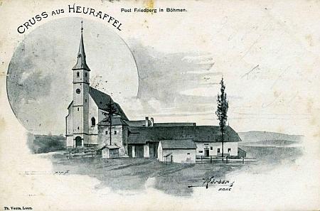 Jedna z nejstarších pohlednic z rodné Přední Výtoně