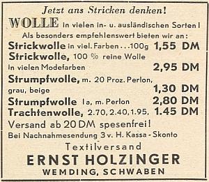 I ve Švábsku v padesátých letech pokračoval vobchodu s textilem