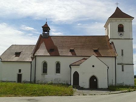 Kostel sv. Martina v Polné, kde byl Wenzl Eßlpokřtěn