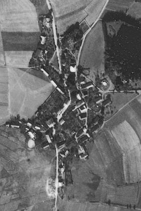Lučina na leteckých snímcích z let 1947 a 2008