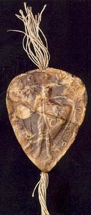 Pečeť Vítka z Prčice z roku 1220, o níž je řeč v jednom z jeho textů  (viz iJuliusStrnadt)