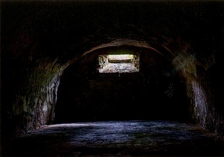 Sklep jednoho z někdejších stavení v Lučině