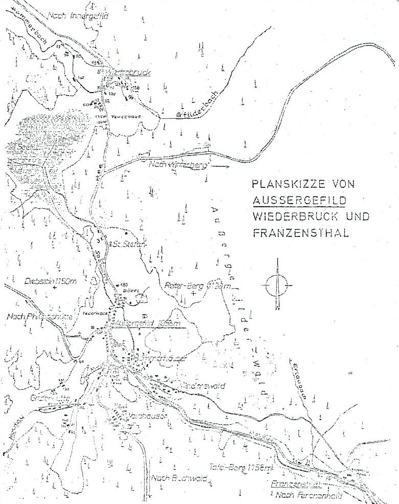 Tady je Vydří Most plánkem naopak přiřazen ke Kvildě a Františkovu
