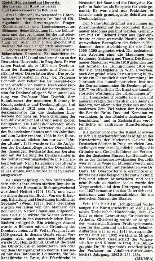 Za tak dlouhý text stál Rudolfu Hemmerlemu (RH), který ho vypracoval pro materiály Sudetoněmeckého archivu (MSA)