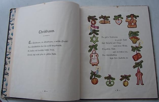 Obálka a báseň o vánočním stromku z její knihy od vimperského Steinbrenera