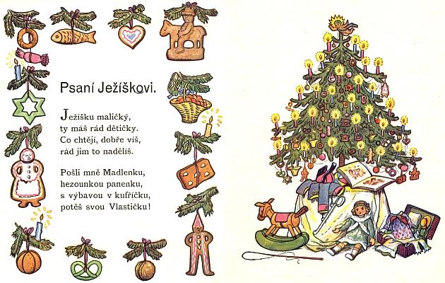 """Česká """"verze"""" jejích vánočních veršů z pera Josefa Kubičky"""