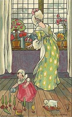 Ukázky z díla rakouské ilustrátorky dětských knih Alice Wankeové (1873-1936)