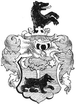 Erb uherského rodu Bossányi de Nagy-Bossan, z něhož Karolina pocházela