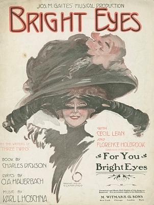 Obálka (1909) notového záznamu jeho písně