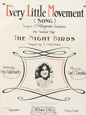 Obálka (1910) notového záznamu jedné z jeho nejznámějších melodií