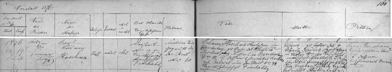 Narodil se podle vimperské křestní matriky 16. srpna 1876 na předměstí čp. 75 a byl tři dny nato ve vimperském kostele Navštívení Panny Marie i pokřtěn