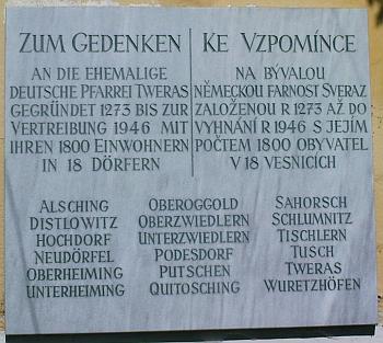 Hned vedle je i pamětní deska farnosti Svéraz (viz i Johann Bürgstein a Franz Reitinger)