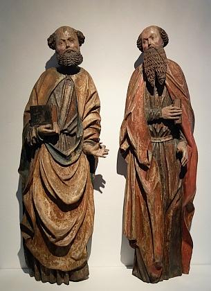 Svatí apoštolové Petr a Pavel z někdejšího oltáře hlavního kostela (kolem roku 1520), dnes ve sbírkách českokrumlovského muzea (viz i Johann Bürgstein)