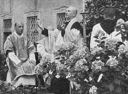 Při kázání v bavorském poutním místě Metten